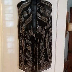 All Saints Spitalfields silk beaded blouse tunic 8
